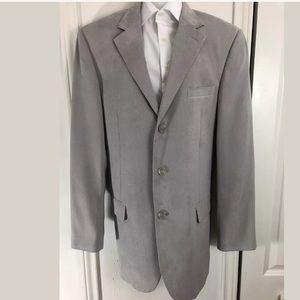 CANALI Suede Light Grey Sport Jacket Blazer 42L